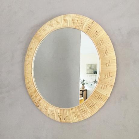 Grand miroir cadre Bambou Large