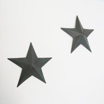 Décoration murale étoile Amish Métal - Coloris Bleu patiné