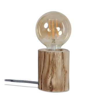 Lampe à poser Naturelle en Bois d'eucalyptus H. 10 cm
