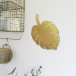 Feuille de plante Monstera dorée à suspendre