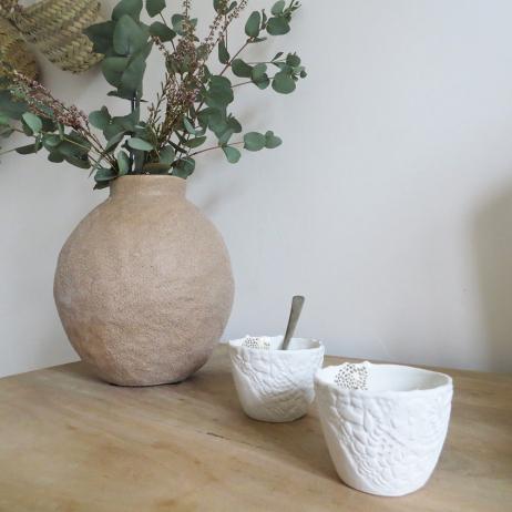 Lot de 2 Tasses Espresso en porcelaine faite main Myriam Aït Amar