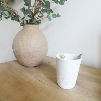 Photophore ou Tasse à café ou thé en porcelaine Taille L Myriam Aït Amar