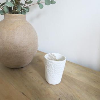 Tasse à café ou Photophore en porcelaine Taille M Myriam Aït Amar