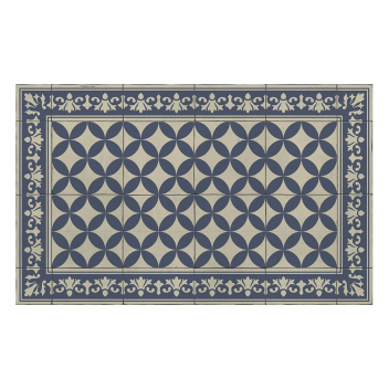 Tapis Beija Flor collection Sofi Bleu et blanc SO16-C