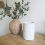 Pot Pluie D'or S Blanc en Porcelaine Myriam Aït Amar