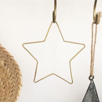 Etoile dorée Filament décorative à suspendre ou associer