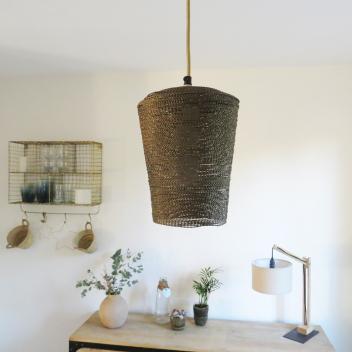 Suspension - Luminaire fil métal taille M - coloris or