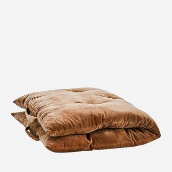 Sur-matelas marron clair - édredon en velours très confort