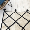 Tapis coton croisillons écru et noir