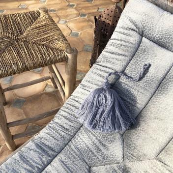 Grand pompon en laine