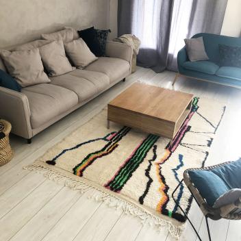 Tapis Marocain berbère Azilal coloré 250 x 150 cm