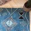 Tapis style Berbère en coton coloré et doux - Bleu nuit