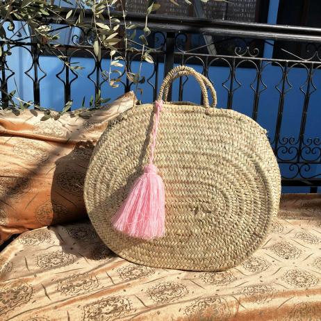 panier marocain palmier tressé main