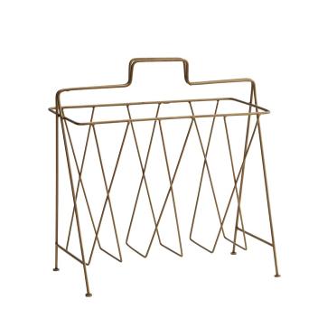 Porte-revues Design en métal coloris doré