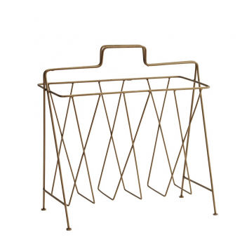 Porte-revues en métal doré
