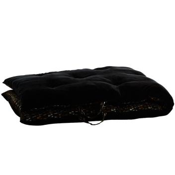 Sur-matelas XL édredon velours noir imprimé - Madam Stoltz