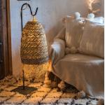 Luminaire bohème en feuilles de palmier