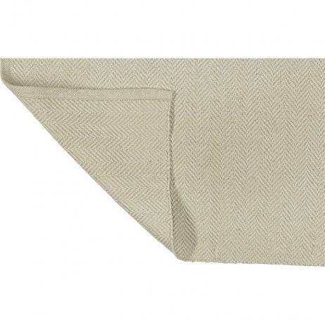 Tapis beige blanc en coton recyclé Liv Interior