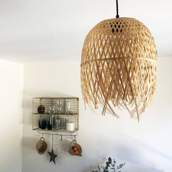 Luminaire Ibiza Bambou naturel tressé - 2 tailles