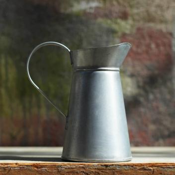 Vase rustique - Pot à eau en acier galvanisé - Nkuku