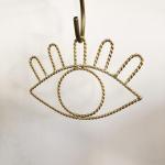 Décoration Life en métal filaire doré fabriquée  main à accrocher