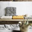 Coussin ou Galette de chaise Coton Noir et beige - Mme Stoltz