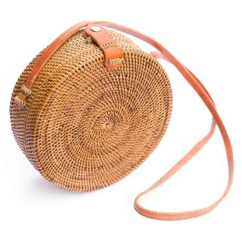 Bali Bag Authentique rond en rotin tressé fait main à Bali