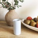 Petit Pot à Lait ou vase blanc moucheté gris Bloomingville