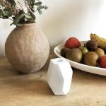 Bougeoir blanc contemporain en béton Design Hubsch