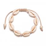 Bracelet Bohème coquillages Lien coloris Beige - Naturel