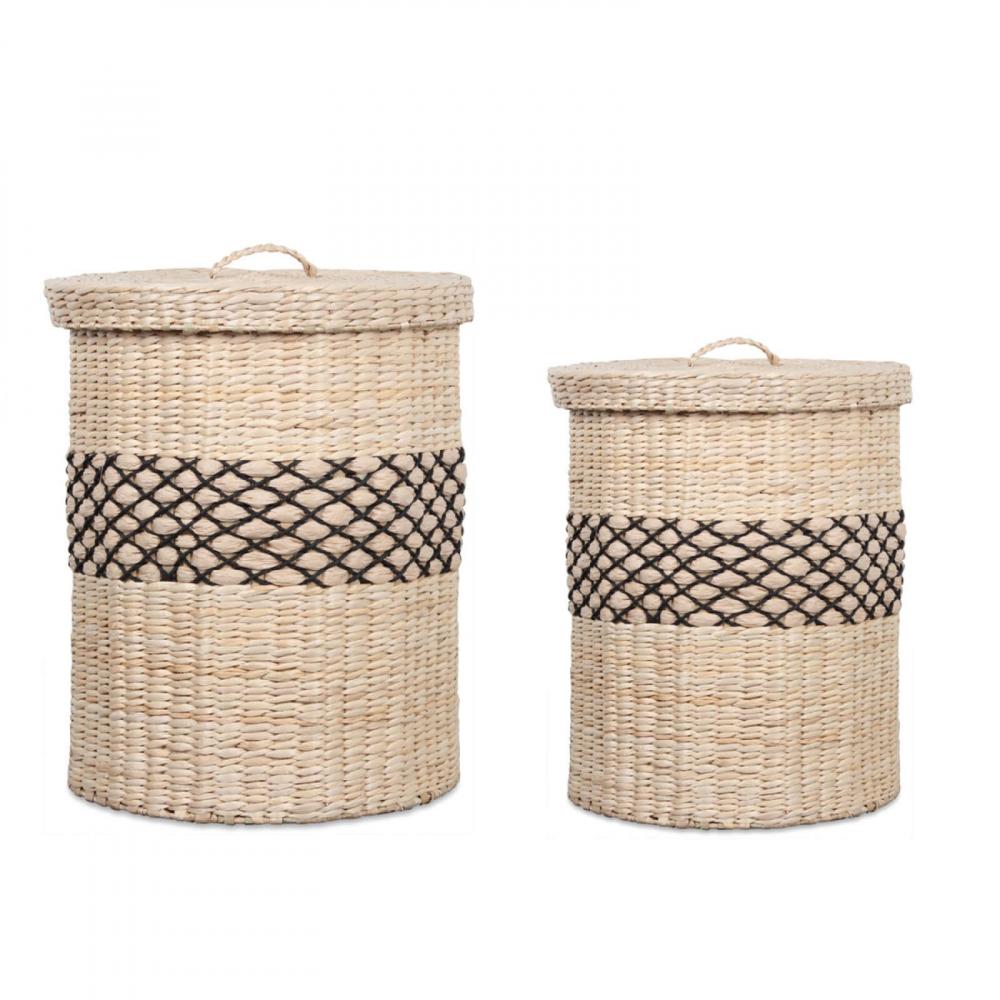 panier rigide naturel de rangement en paille style berb re. Black Bedroom Furniture Sets. Home Design Ideas