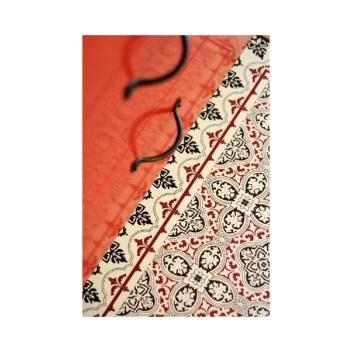 Tapis Beija Flor Eclectic Noir et Rouge Lela H1