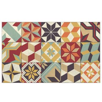 Tapis Beija Flor Eg10-c Gothic Coloré carreaux ciment
