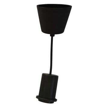Monture PVC E27 pour luminaire coloris Noir - Suspension