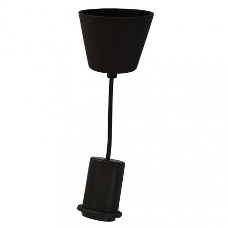 Monture métal Noir pour Suspension Douille avec fil corde