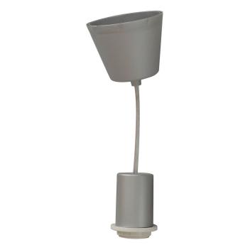 Monture PVC E27 pour luminaire coloris Gris clair - Suspension