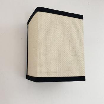 Applique en raphia toute équipée - Blanc et noir