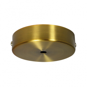 Rosace seule pour plafond métal doré brossé vintage