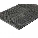 Tapis en coton recyclé noir Liv Interior - 2 tailles disponibles