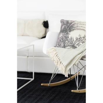 Tapis en coton recyclé Noir Liv Interior - 2 tailles dispo