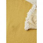 Tapis Rond en coton recyclé Jaune Orangé Liv Interior - 2 tailles dispo