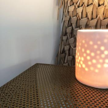 Lampe Puit de Lumière Blanc en Porcelaine Myriam Aït Amar