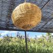 lustre maroc forme ovale en roseau - osier