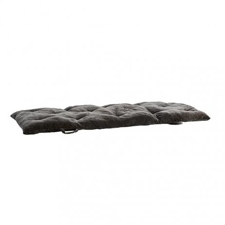 Sur-matelas XL velours très confortable coloris gris foncé - Charcoal