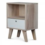 Table de chevet scandinave en bois coloris Boréal - 1 tiroir