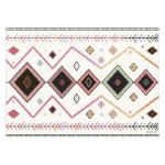 Tapis vinyle imprimé ethnique coloré