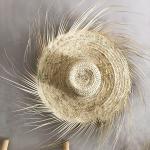 Chapeau en palmier pour Déco murale fait main au Maroc - 2 tailles