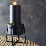 Petit pot sur pied pour plantes ou bougies