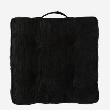 Coussin d'assise Noir pour chaise, banquette en Velours côtelé