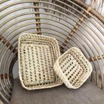 Petit panier en fibre de palmier